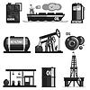 Ölproduktion Set Ikonen