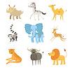 Afrikanische Tiere Set