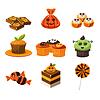 Bunte Halloween Süßigkeiten