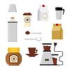 Wohnung moderne Ikonen für Coffee-Shop