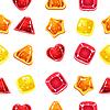 nahtlose Hintergrund mit bunten Halloween-Süßigkeiten