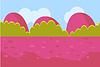 Landschaft Cartoon Rot und Grün Nahtlose Hintergrund