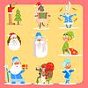 Weihnachten Icon Set. Sammlung