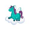 Netter Pegasus auf Wolke