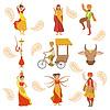 Tanzen, Heilige Kuh und andere indische Kultur Symbol