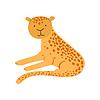 Jaguar Stilisierte Childish Drawing