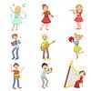 Kinder singen und spielen Musikinstrumente Set