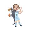 Mädchen tragen Igel Tierkostüm