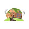 Huse In Erdbeben, Naturkräfte Bedrohung