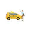 Man Fangen Yellow Taxi-Auto
