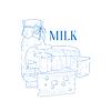 Milch und Käse Realistische Sketch