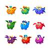 Little Alien Drachen wie Monster Set
