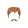 Hipster Male Haar und Gesichts Stil mit Staline