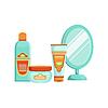 Reihe von spezialisierten Dermatologische Hautpflege Kosmetik