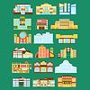 Einkaufszentrum, Kaufhaus und Supermarkt