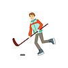 Guy spielen Hockey Wintersport