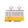 Tram Öffentliche Verkehrsmittel Portugiesisch Berühmte Symbol