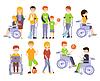 Körperlich behinderte Menschen leben Voll Glücklich Lif