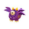 Lila Fantastisch freundliches Haustier-Drachen mit vier Flügel