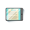 Tablet With Document To Read On Screen Office Worke