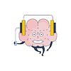 Gehirn-hörende Musik-Comic-Charakter Darstellen