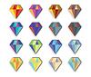 Diamant-Icon Set