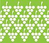 Trauben und Blätter-Muster-Hintergrund-Design