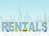 House Rentals Zeigt Immobilien und Gebäude-Leases | Stock Illustration