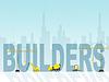 Haus Builders Zeigt Immobilien und Häuser | Stock Illustration