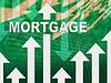 Hypotheken Grafik Zeigt Immobilien Home Loan | Stock Illustration