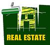 Immobilien Zeigt Häuser zu verkaufen und Immobilien | Stock Illustration