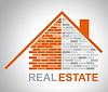 Immobilien-Haus Gibt Zu verkaufen | Stock Illustration