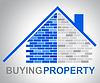 Kauf von Immobilien Mittel Real Estate Käufe | Stock Illustration