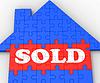 Verkauft Haus Serien Verkauf von Immobilien | Stock Illustration