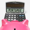 Hypothekenrechner Zeigt Kauf von Immobilien | Stock Illustration