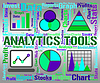 Analytics Tools Represents Business Graph And App | Stock Illustration