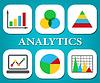 Gráficos de análisis de negocios Gráfico Y Representa | Ilustración