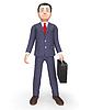 Standing Businessman Indicates Entrepreneurial Stoo | Stock Illustration