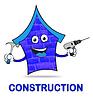 Haus Bau Mittel Immobilien Gebäude 3d | Stock Illustration