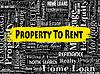 Immobilien zu vermieten Zeigt Immobilien | Stock Illustration