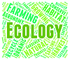 Ecology Word Means Earth Day And Environment | Stock Illustration