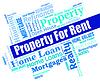 Zu vermieten Mittel Immobilien | Stock Illustration