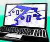 Häuser Auf Laptop Zeigt Online Immobilien | Stock Illustration
