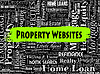 Immobilien Websites Zeigt Immobilien und | Stock Illustration