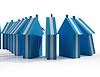 Häuser Fallen Shows Immobilienmarkt Failing | Stock Illustration