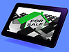 Verkauf House Tablet Bedeutet Immobilien On Market | Stock Illustration