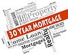 Dreißig Jahre Hypothek Stellt Immobilien und | Stock Illustration