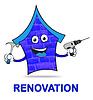 Haus Renovierung Gibt Immobilien und Wohnungen | Stock Illustration