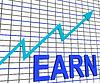 Gane la carta del gráfico muestra los ingresos aumentan en crecimiento | Ilustración