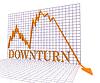 Gráfico recesión Representa el mercado gráfico y la pérdida de 3d | Ilustración